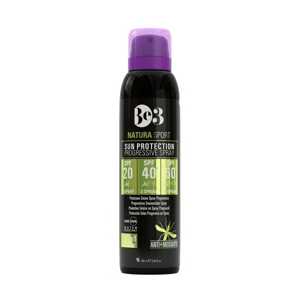 اسپری ضد آفتاب اس پی اف 20 40 60 ضد گزیدگی حشرات تصاعدی 150 میلی لیتر بی تری