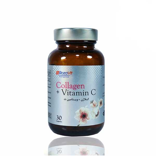 كپسول كلاژن پلاس با ویتامین ث 30 عددی رزاویت