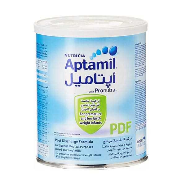 شیر خشك آپتامیل پی دی اف برای نوزادان نارس 400 گرم نوتریشیا