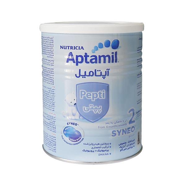 شیر خشك آپتامیل پپتی 2 آلرژی كر 400 گرم نوتریشیا