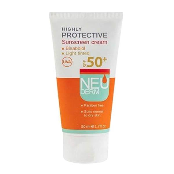 كرم ضد آفتاب فاقد رنگ اس پی اف 50 پوست معمولی و خشك نئودرم