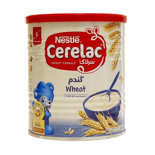 سرلاك گندم به همراه شیر مناسب كودكان از پایان 6 ماهگی 400 گرم نستله