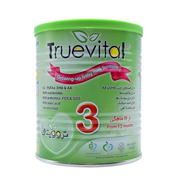 شیر خشك تروویتال 3 برای نوزادان بالای 1 سال 400 گرمی نیكسان فارما