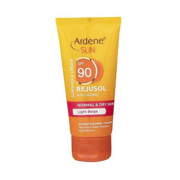 كرم ضد آفتاب بژ روشن اس پی اف 90 انواع پوست 50 گرم آردن