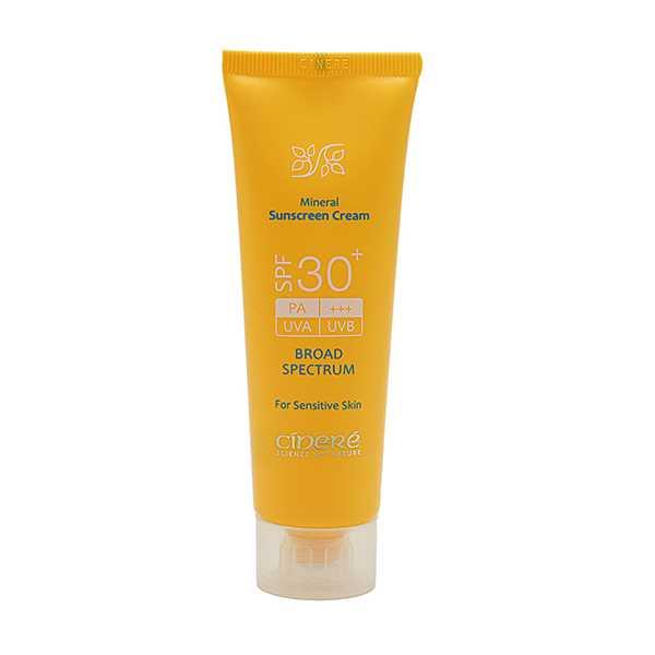 كرم ضد آفتاب اس پی اف 30 پوست های حساس 50 میلی لیتر سینره