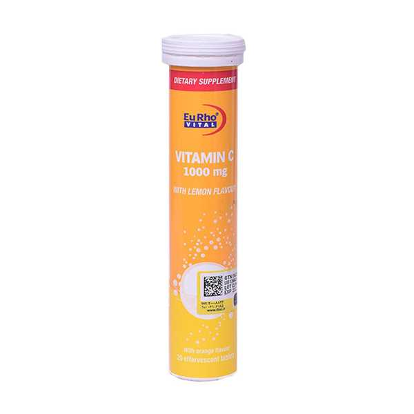 قرص جوشان ویتامین ث 1000 میلی گرم 20 عدد یوروویتال