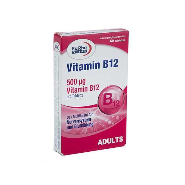 قرص ویتامین ب 12 60 عددی یوروویتال