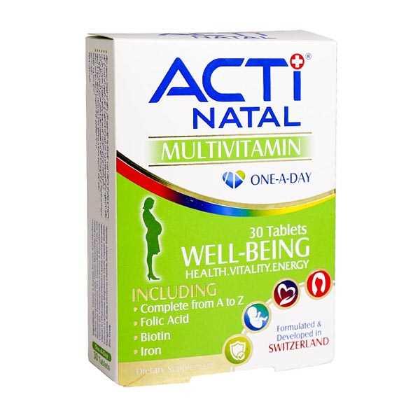 قرص مولتی ویتامین اكتی ناتال 30 عدد لیبرتی