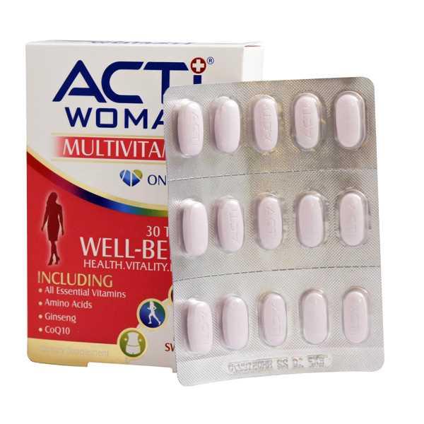 قرص مولتی ویتامین اكتی وومن 30 عدد ابیان دارو