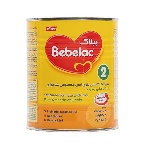 شیر خشك ببلاك 2 برای نوزادان 6 تا 12 ماهگی 400 گرم میلوپا