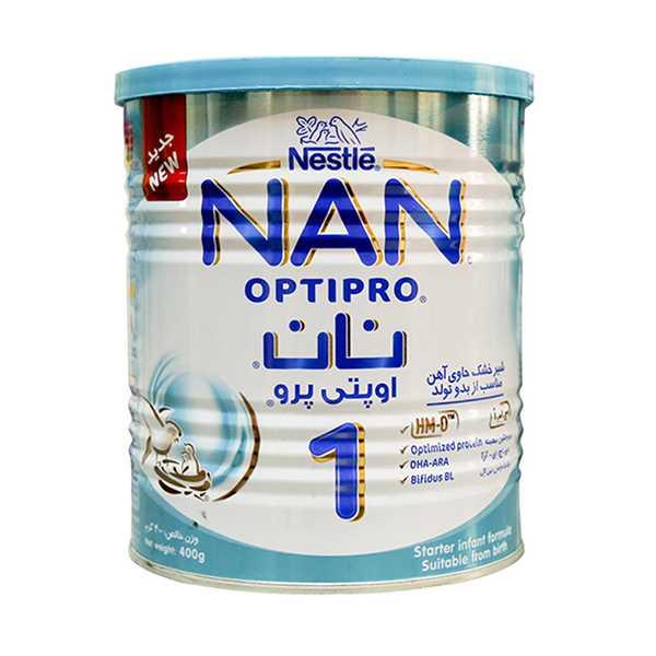 شیر خشك نان 1 برای نوزادان 0 تا 6 ماهگی 400 گرم نستله