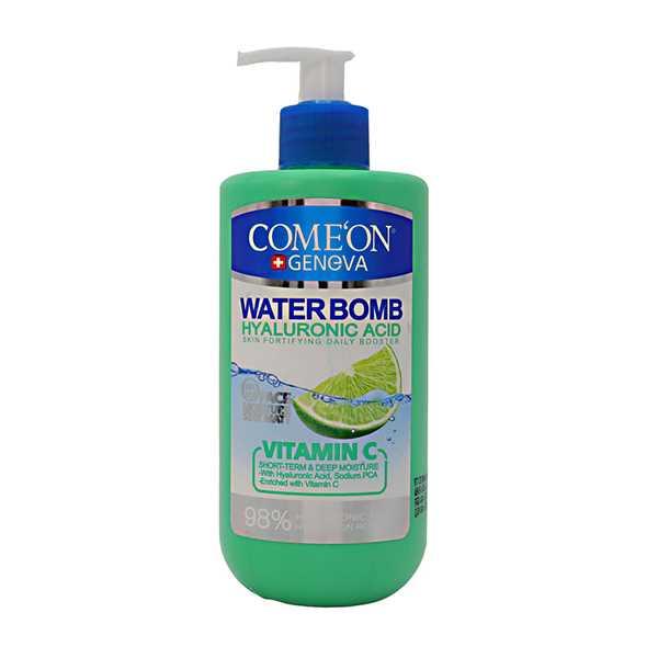 واتر بمب حاوی هیالورونیك اسید و ویتامین ث دارای عصاره لیمو 500 میلی لیتر كامان
